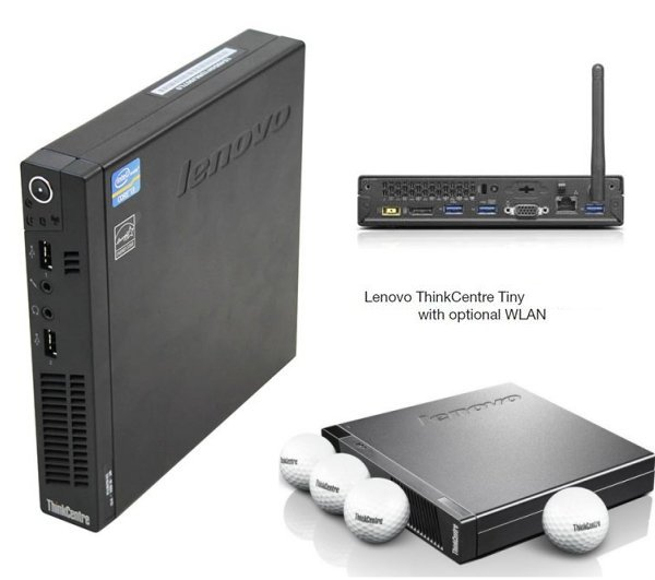 Fast Quad 2.90Ghz/3.60Ghz IBM/Lenovo M92P Tiny PC 8GB 320GB W7